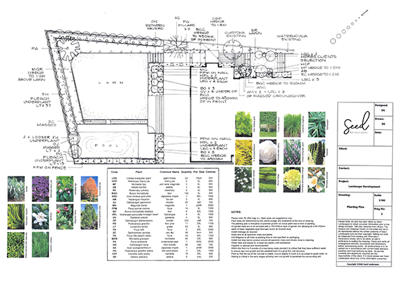 Planting Plans Auckland