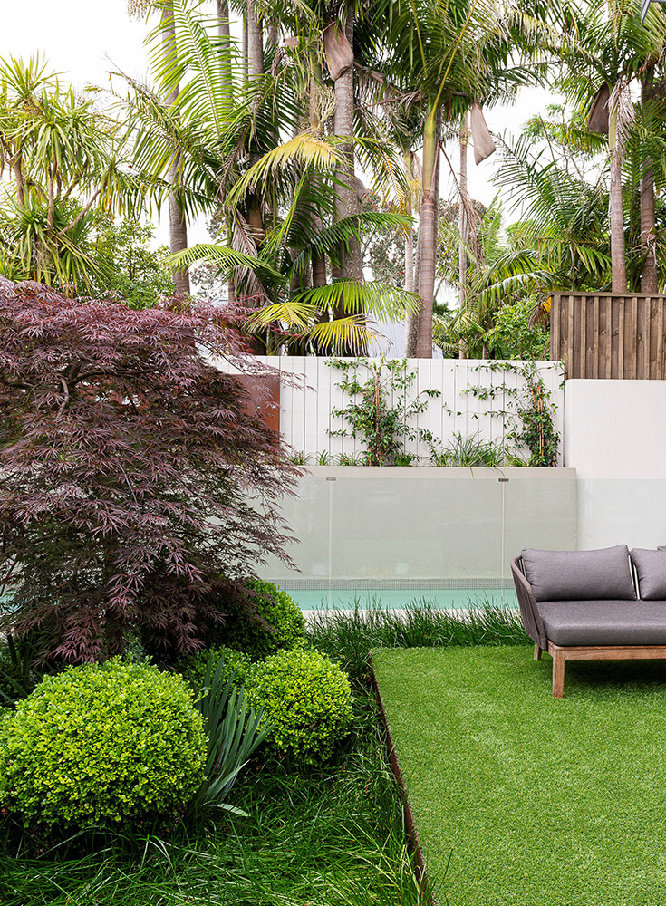 contemporary asian garden design auckland